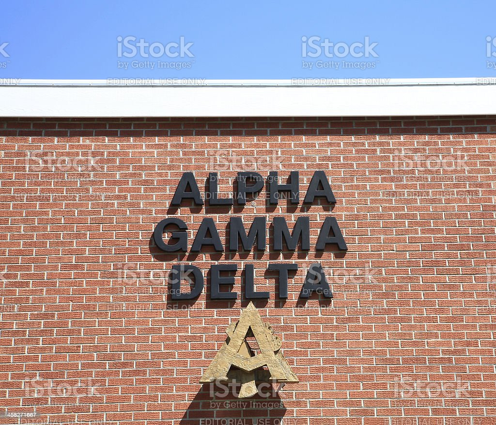 Fraternity Name And Symbol stock photo