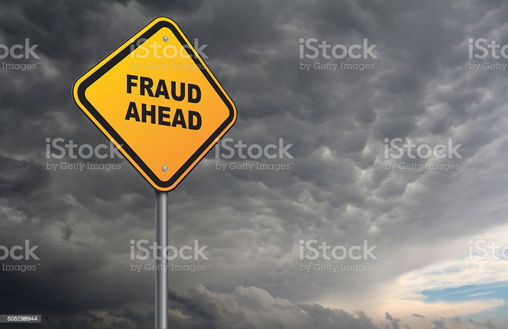 fraud ahead stock photo