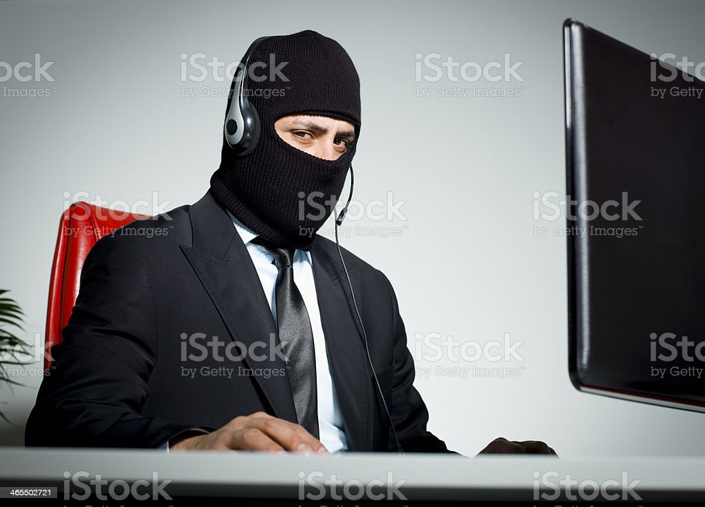 Fraud Call Centre stock photo
