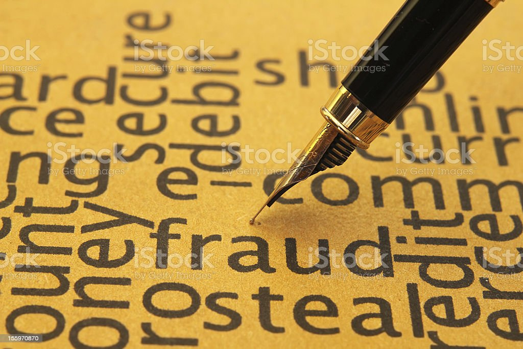 Fraud concept royalty-free stock photo