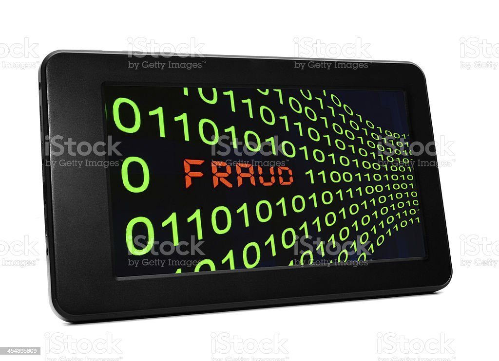Fraud on pc table t royalty-free stock photo