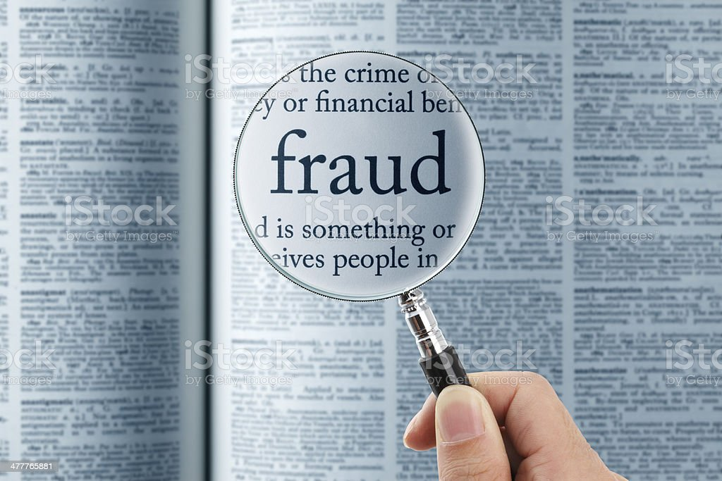fraud stock photo