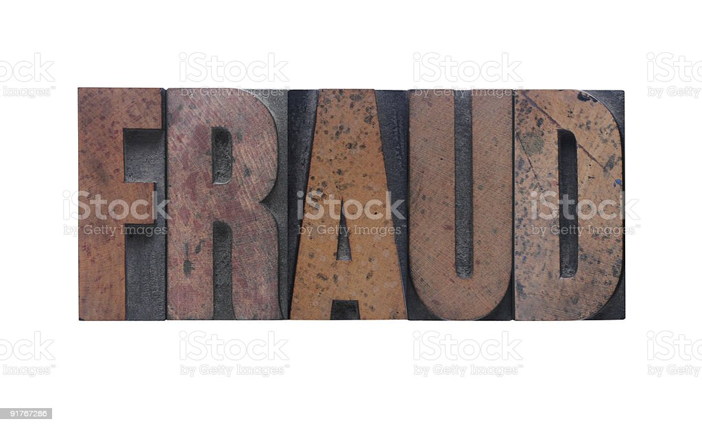 fraud royalty-free stock photo
