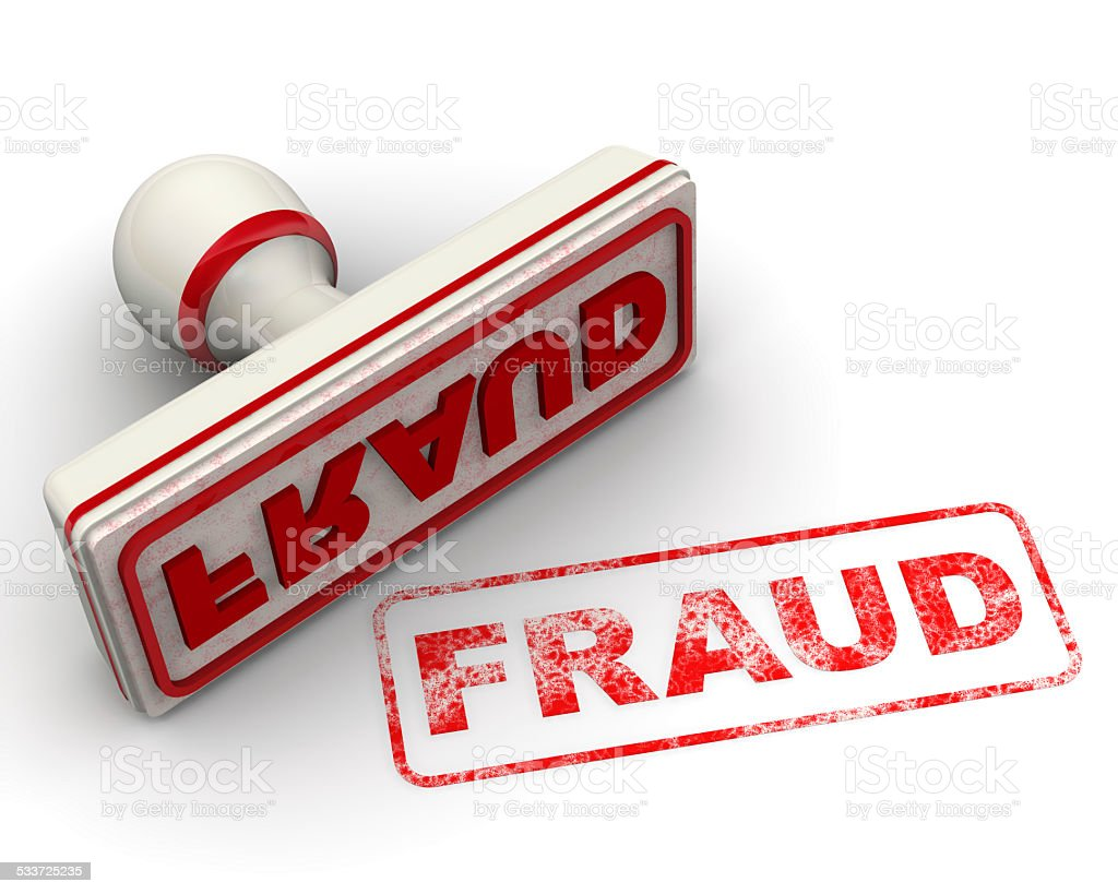 Fraud. Seal and imprint stock photo