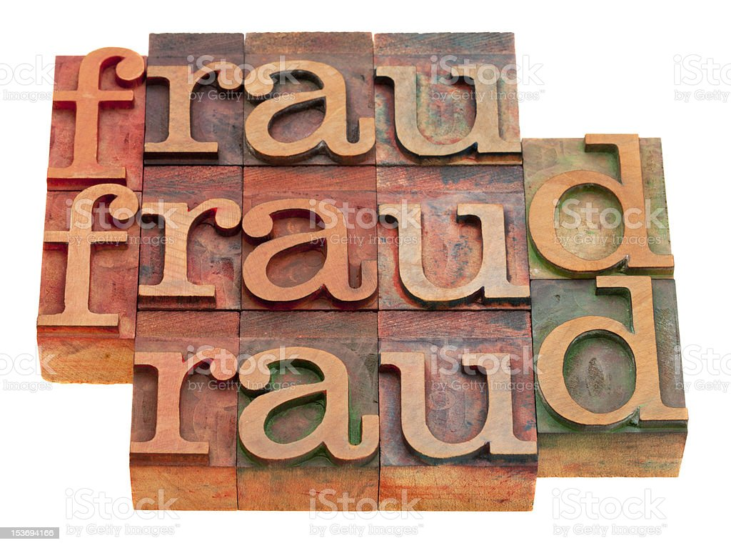 fraud word abstract stock photo