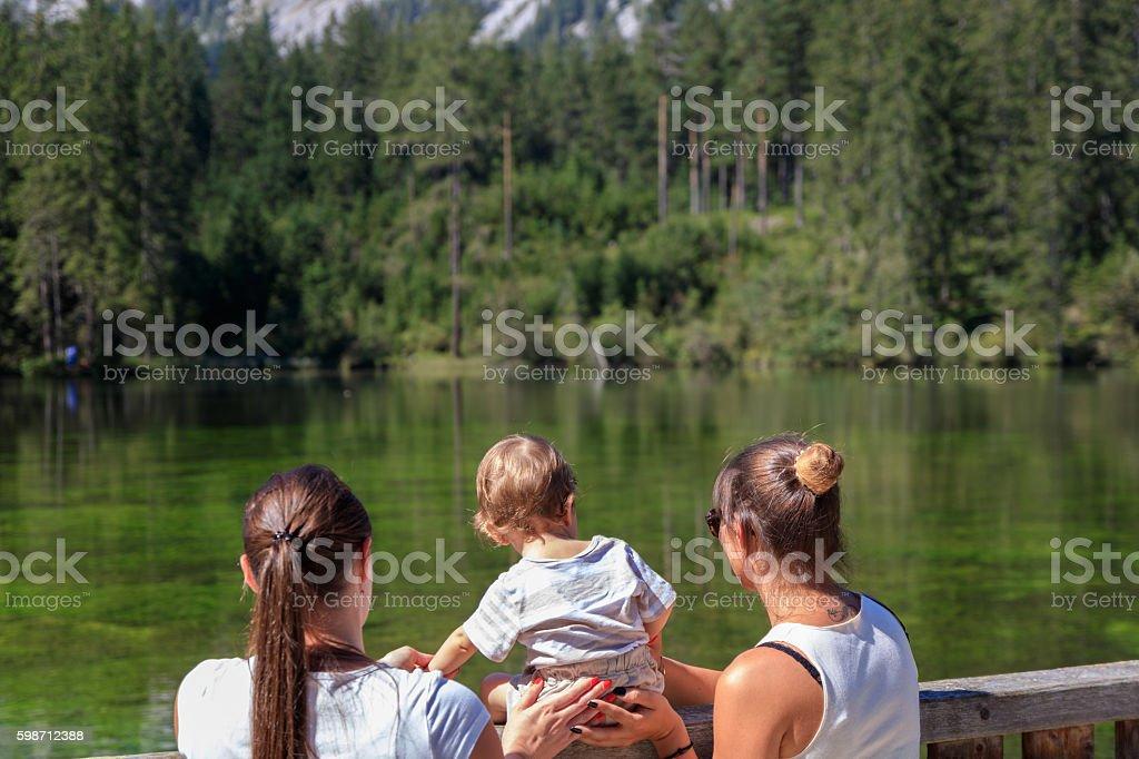 Frauen mit Baby stock photo