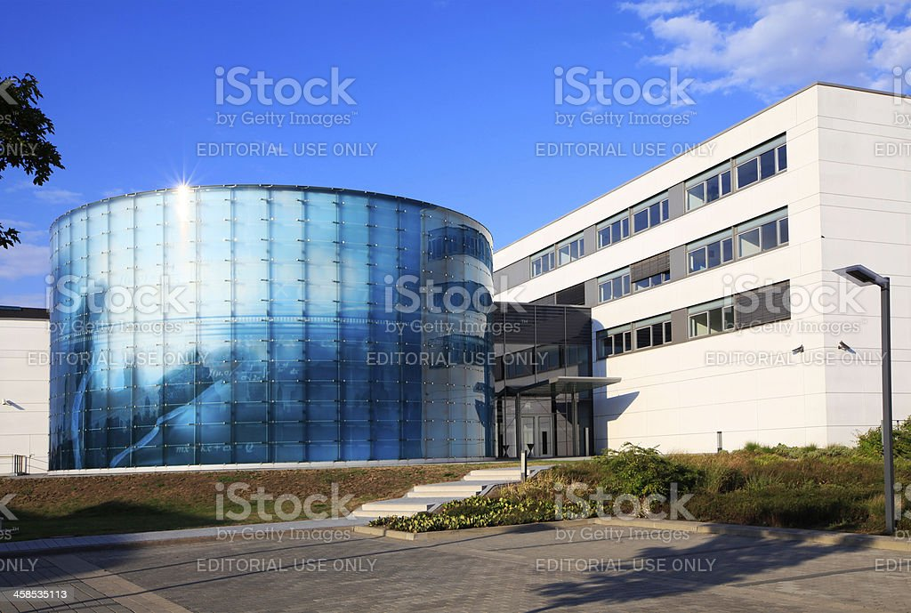 Frauenhofer IFF VDTC Building at Magdeburg`s Science Port. stock photo