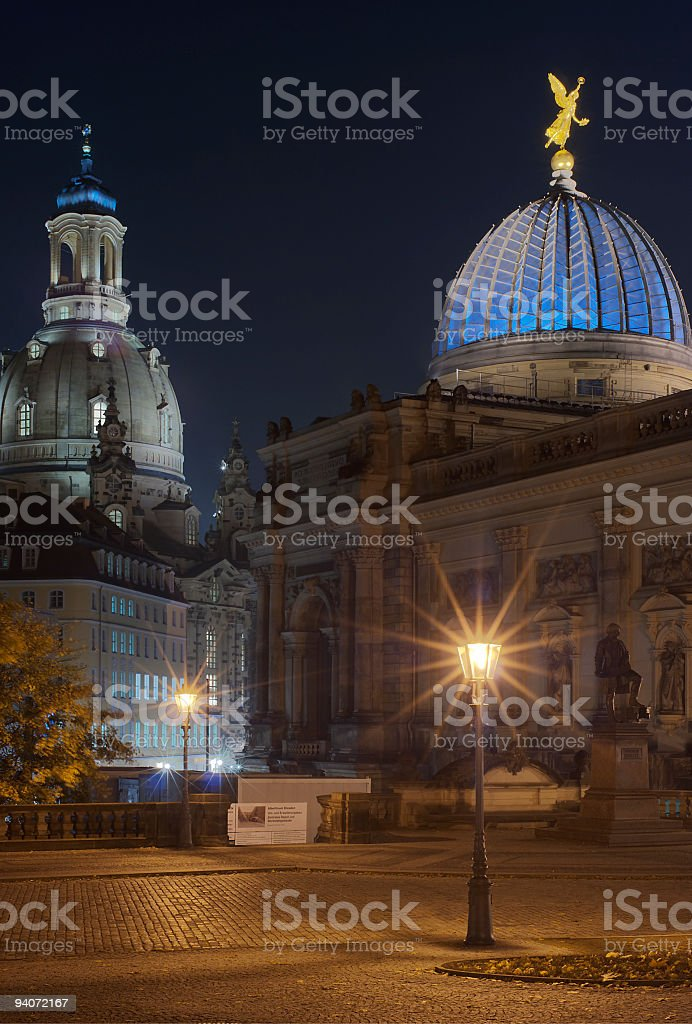 frauenkirche church, dresden stock photo
