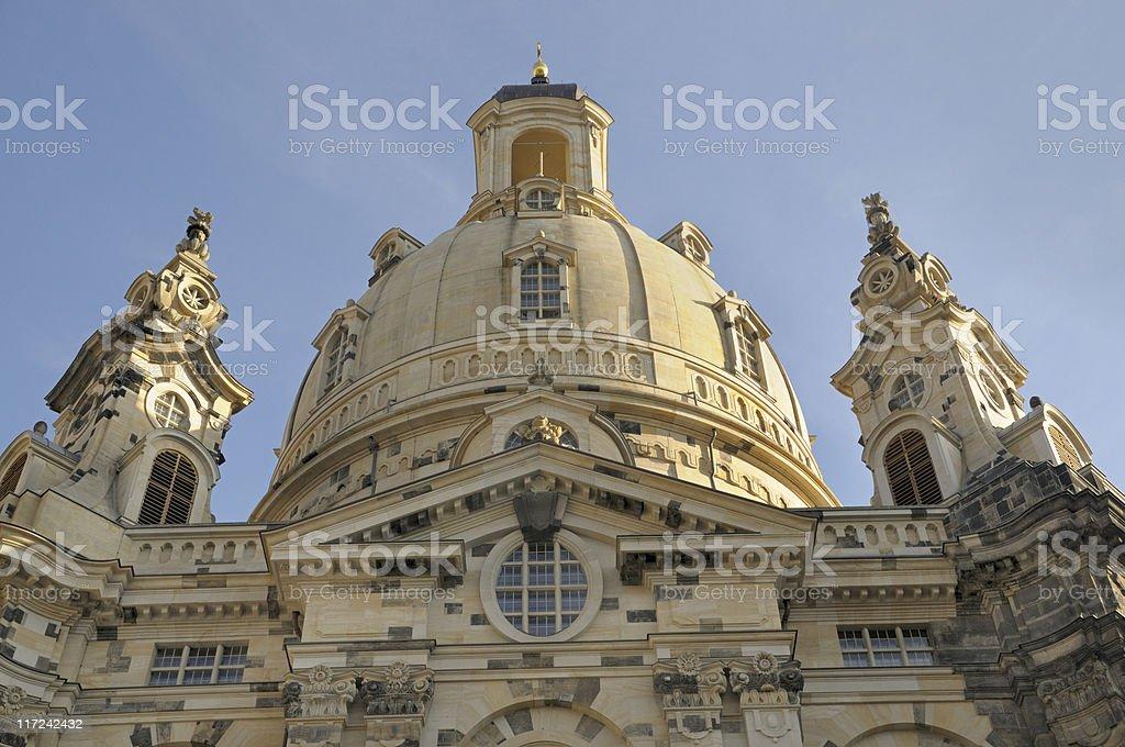 Frauenkirche Dresden royalty-free stock photo