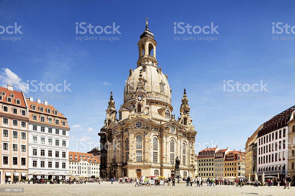 Frauenkirche, Dresden stock photo