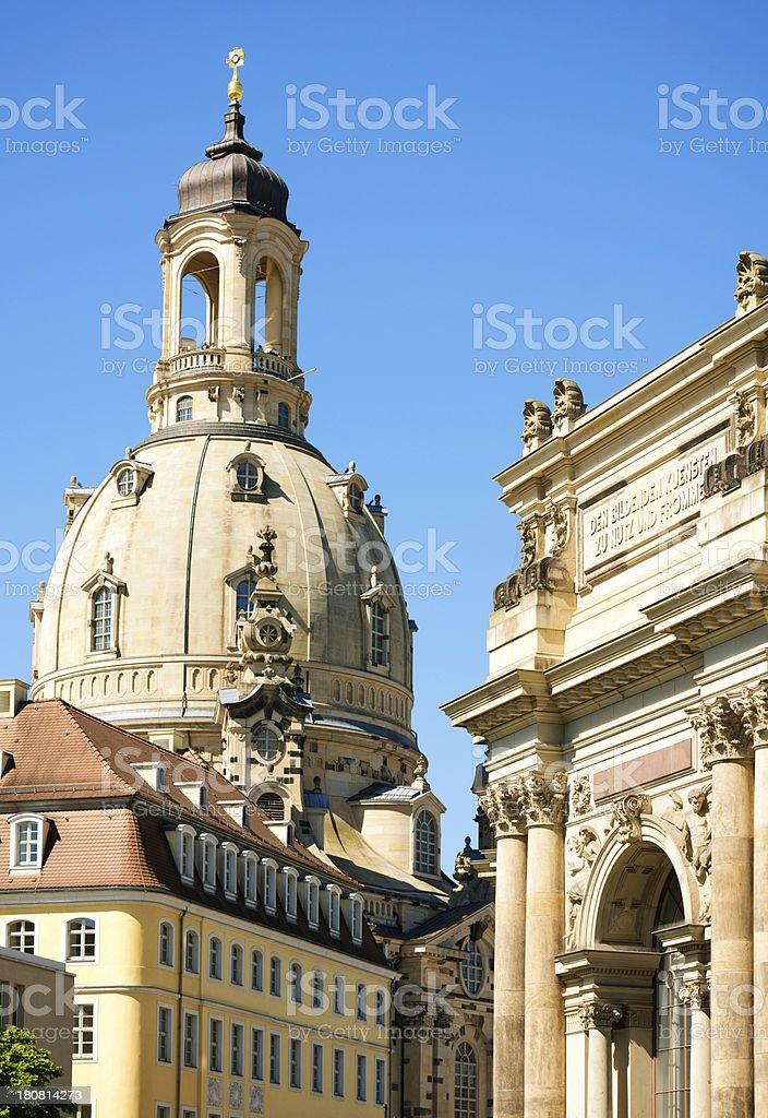 Frauenkirche, Dresden royalty-free stock photo