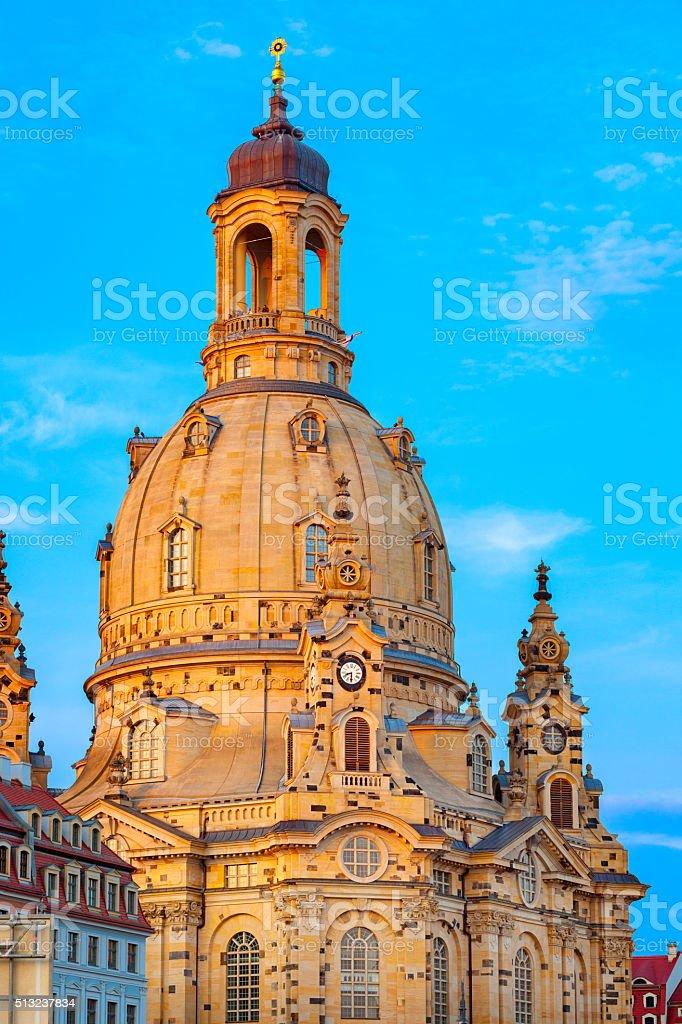 Frauenkirche Dresden Saxony Germany stock photo