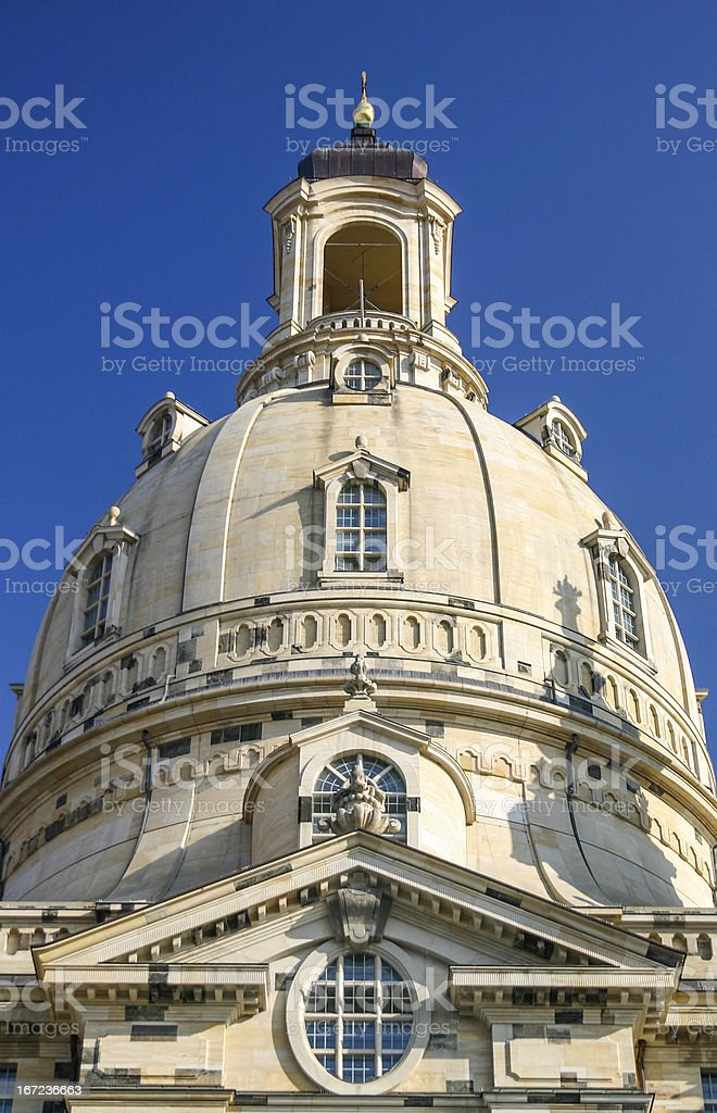 Frauenkirche in Dresden dome royalty-free stock photo