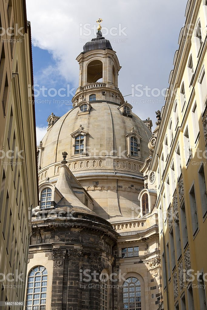 Frauenkirche (Church of Our Lady) in Dresden, Germany stock photo