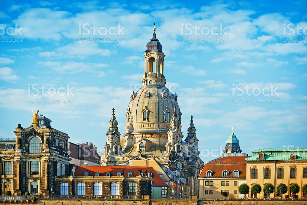 Frauenkirche in Dresden, Germany stock photo