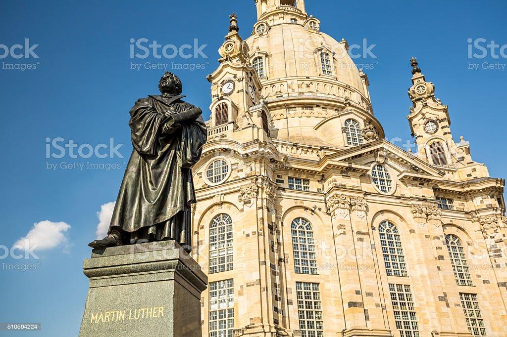 Frauenkirche in Dresden stock photo