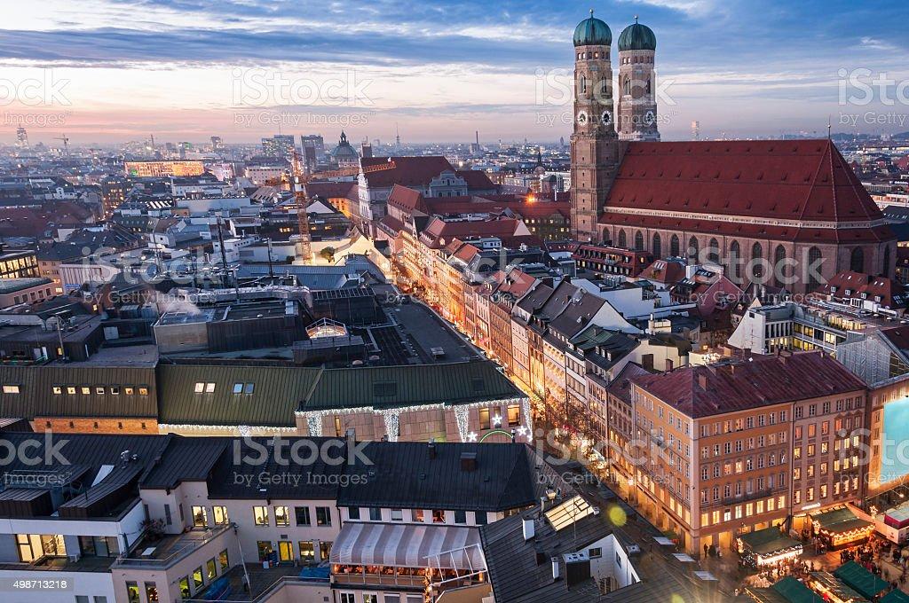 Frauenkirche in Munich, Germany stock photo