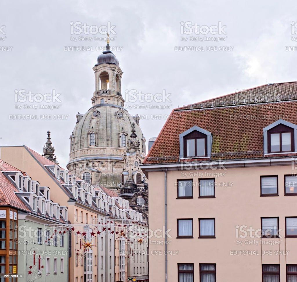 Frauenkirche is a Lutheran church stock photo