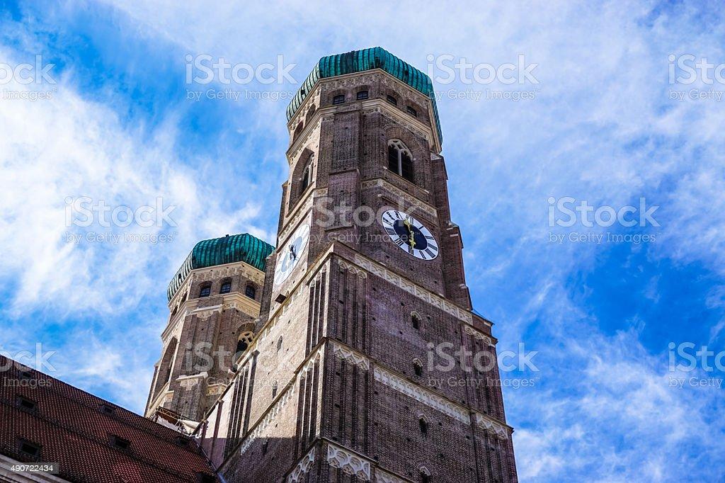 Frauenkirche München Munich City Detail stock photo
