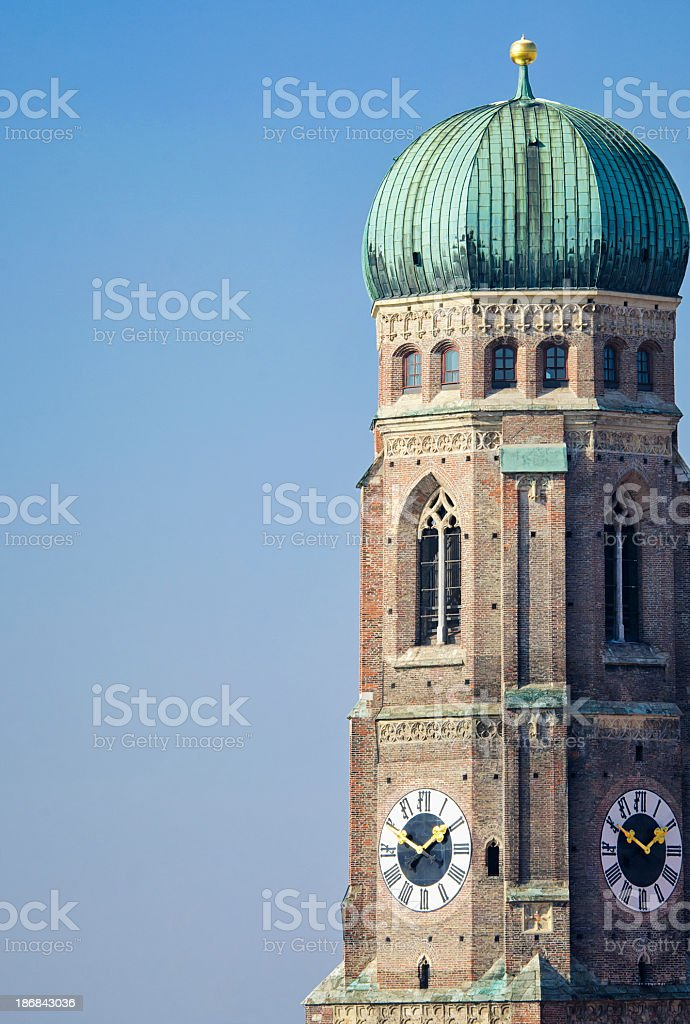 Frauenkirche Tower in Munich royalty-free stock photo