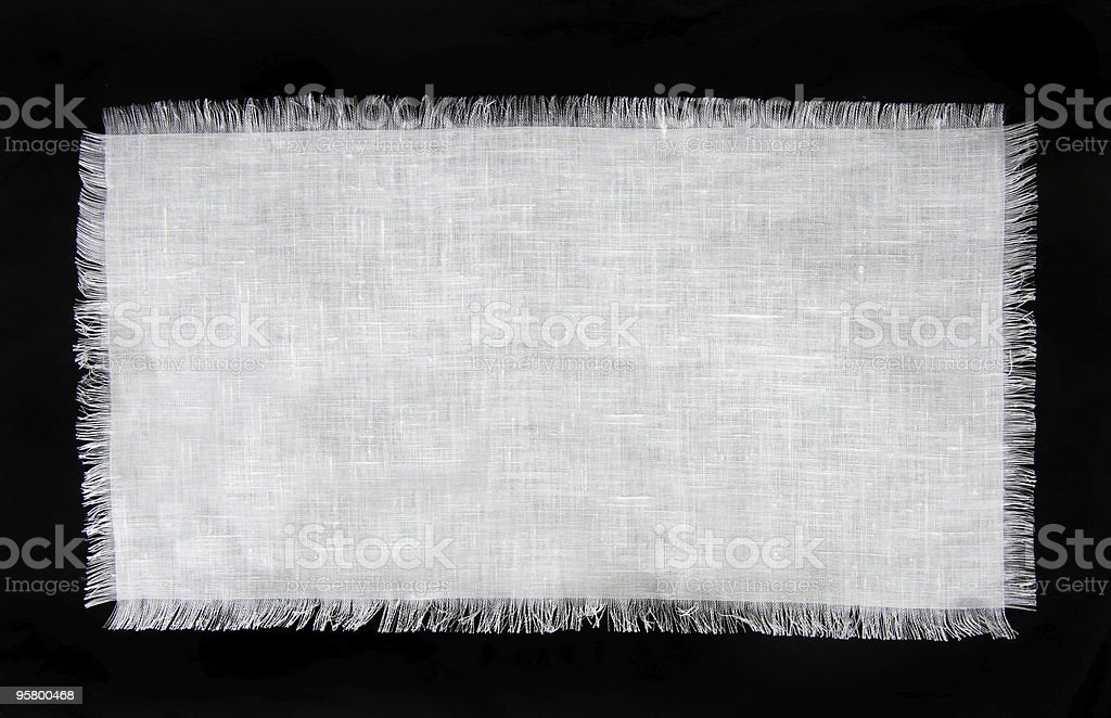 Frayed Linen royalty-free stock photo