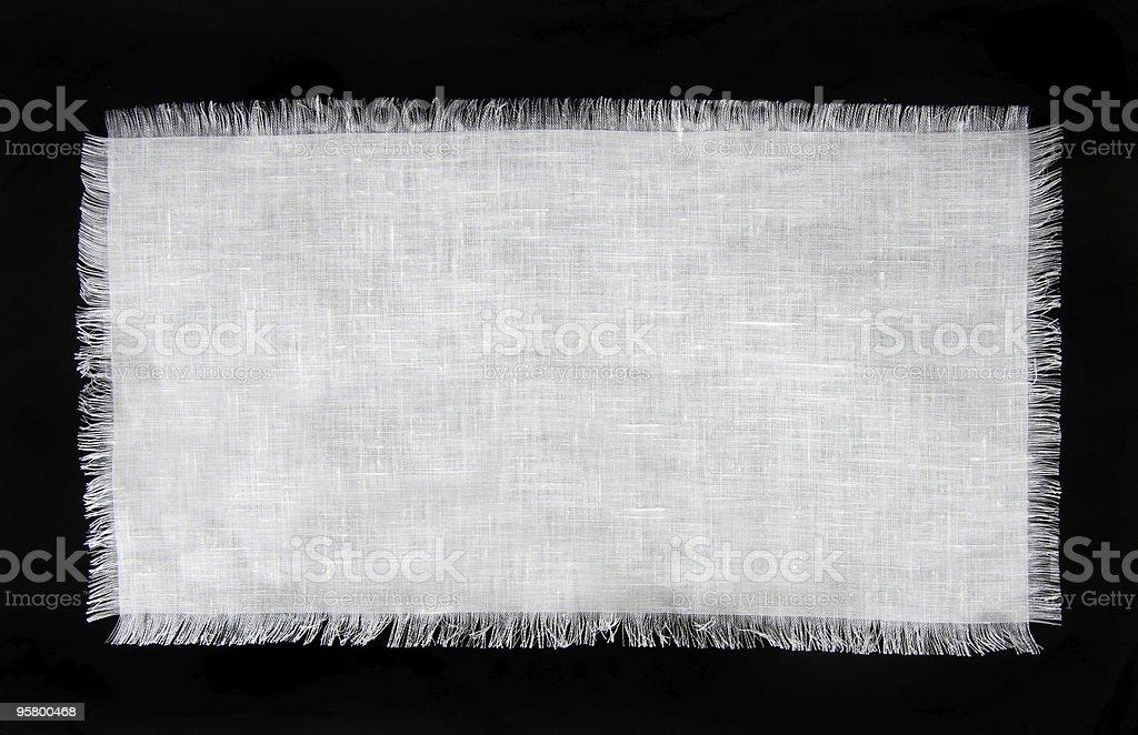 Frayed Linen stock photo