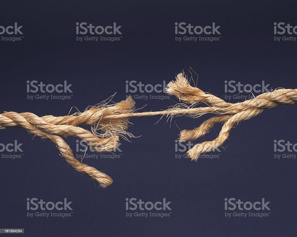 Image result for rope, frayed, about to break, photos