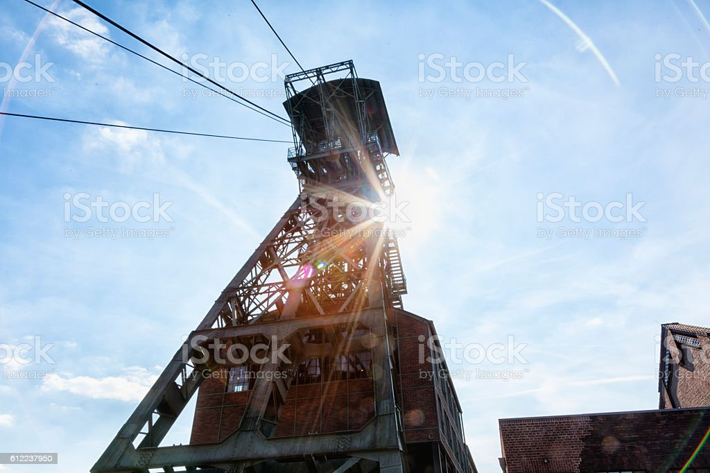 Förderturm der früheren Zeche Zollern, Dortmund stock photo