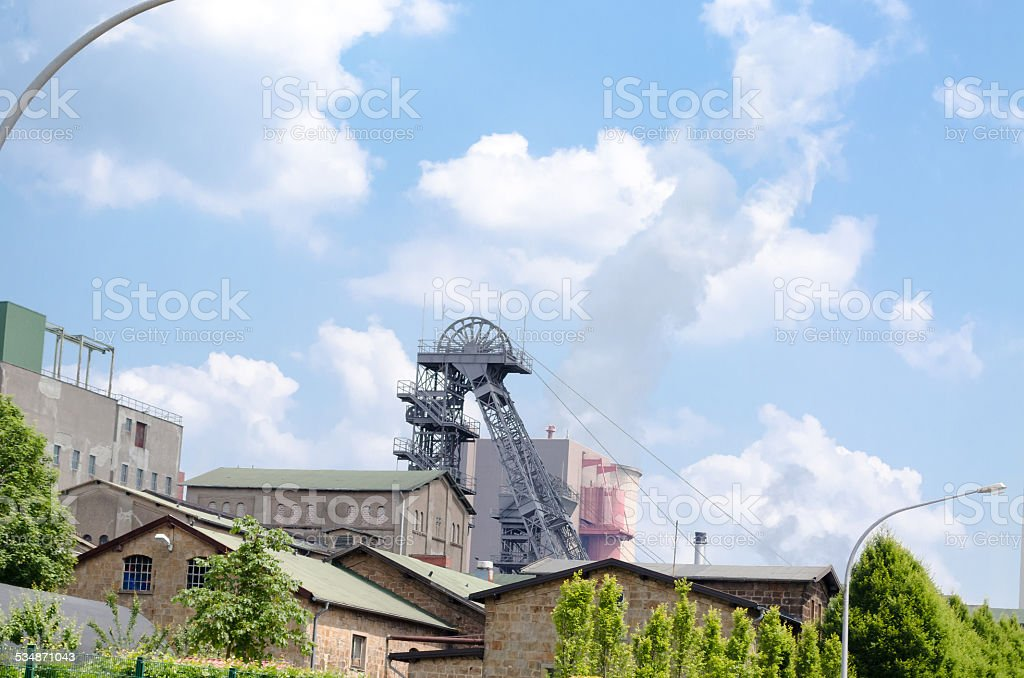 F?rderturm of a colliery stock photo