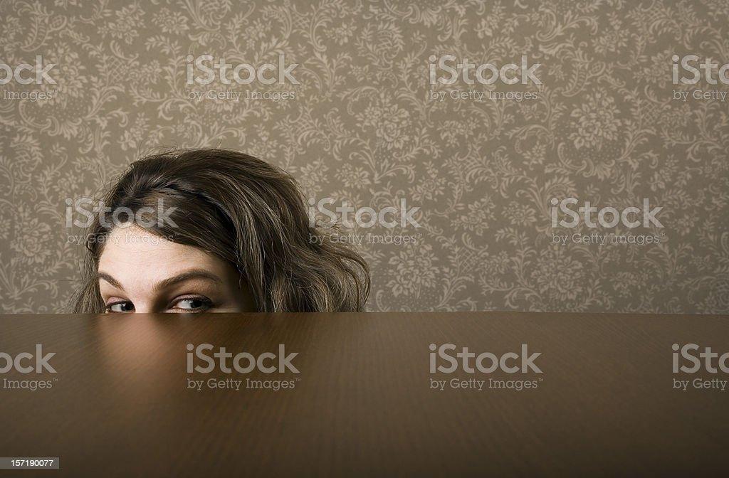 Freak girl stock photo