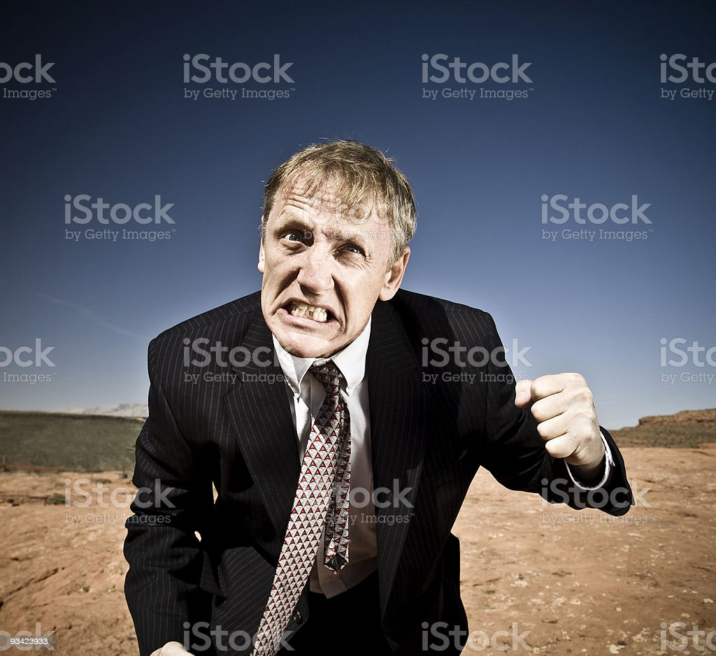 freaking out businessman royalty-free stock photo