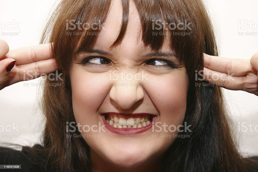 freaking out royalty-free stock photo