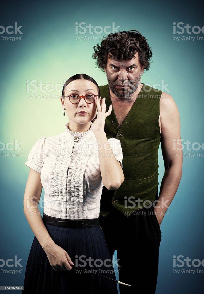 Freaky Parents royalty-free stock photo