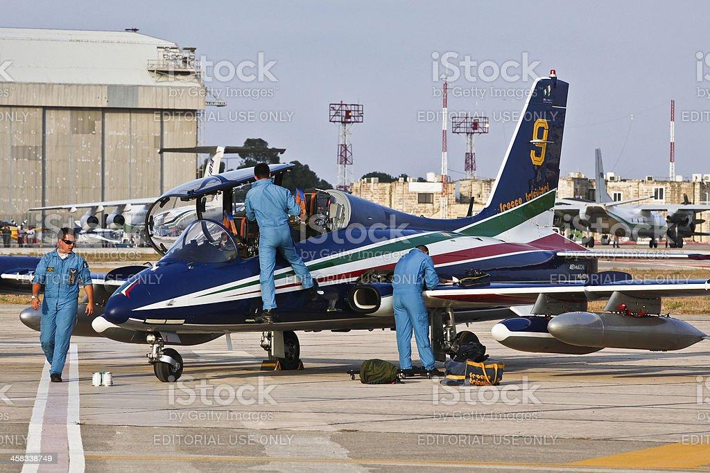 Frecce Tricolori Crew royalty-free stock photo