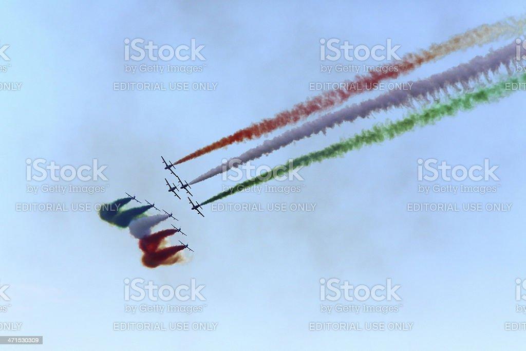 Frecce Tricolori royalty-free stock photo