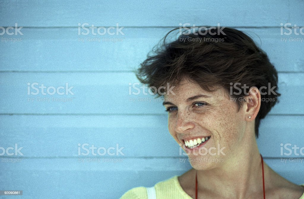 Freckle Faced Brunette 2 stock photo