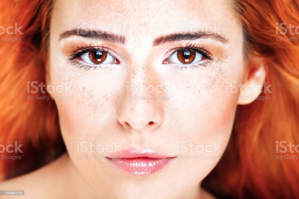 Freckle stock photo