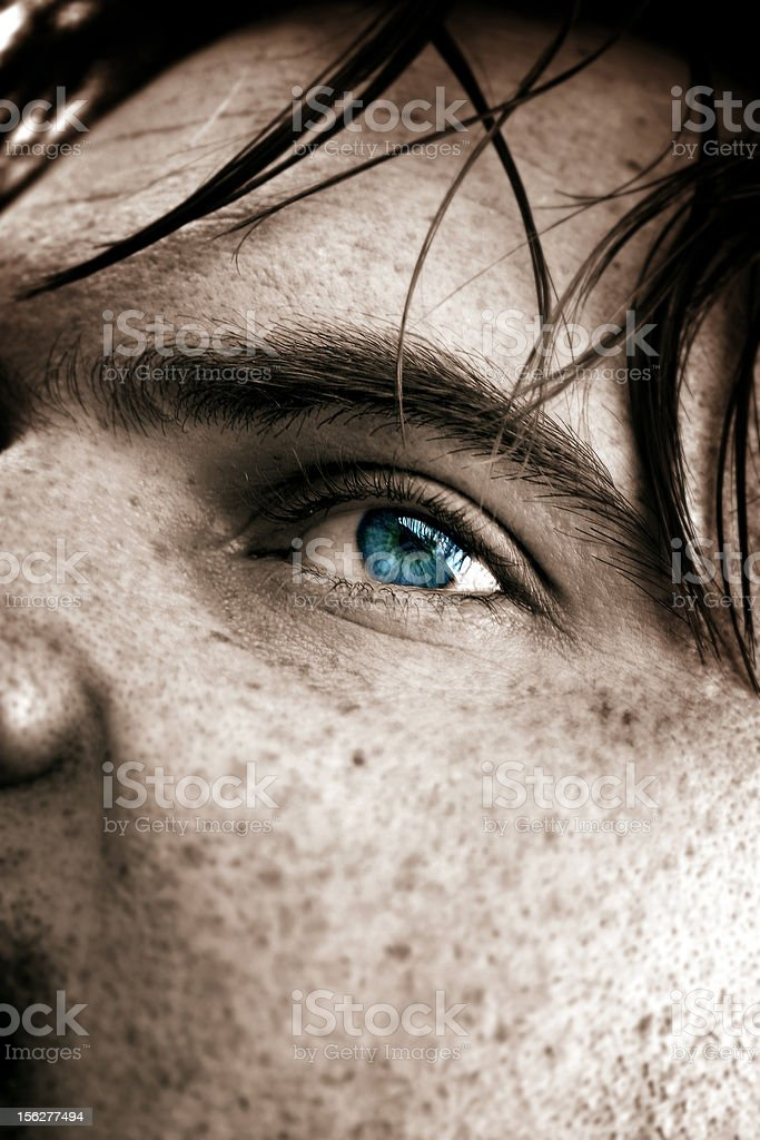 Freckled Eye royalty-free stock photo