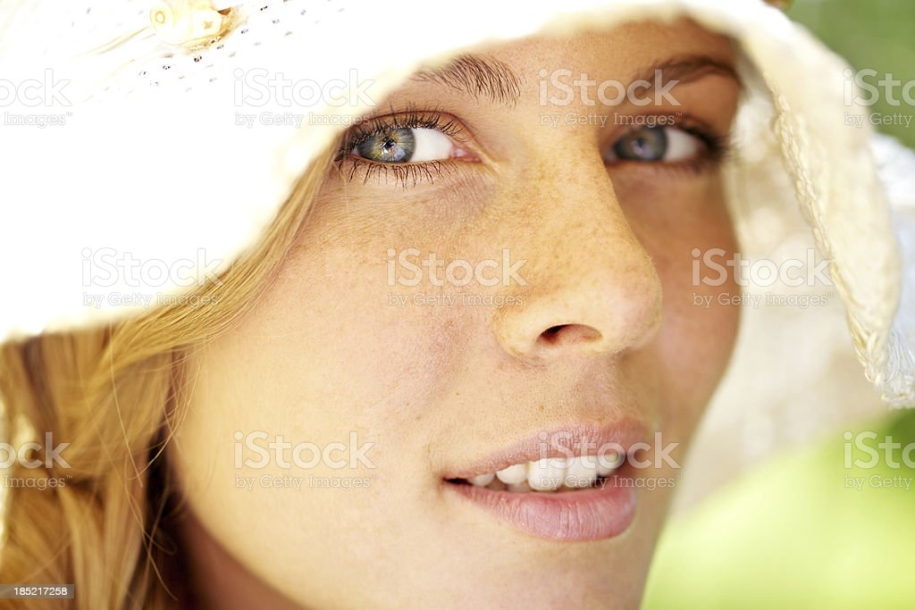 Freckled girl royalty-free stock photo