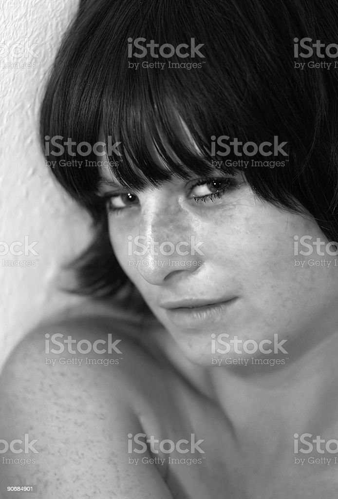Freckly royalty-free stock photo