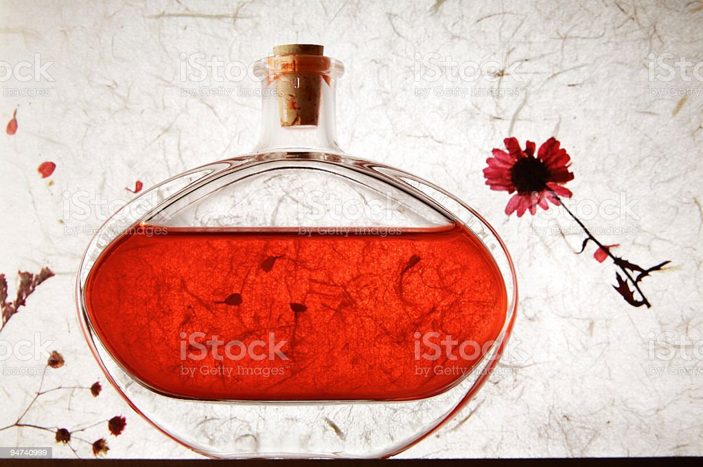 Fred fragrance bottle stock photo