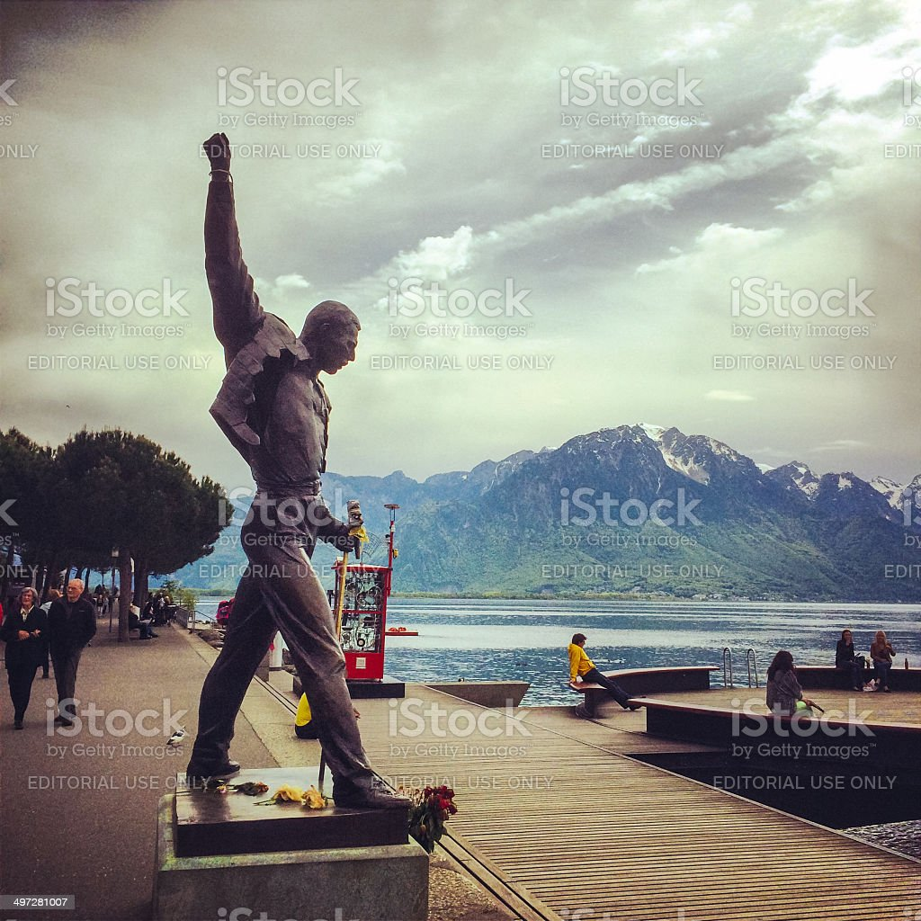 Freddie Mercury Monument in Montreux, Switzerland stock photo