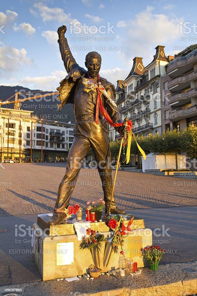 Freddie Mercury statue royalty-free stock photo