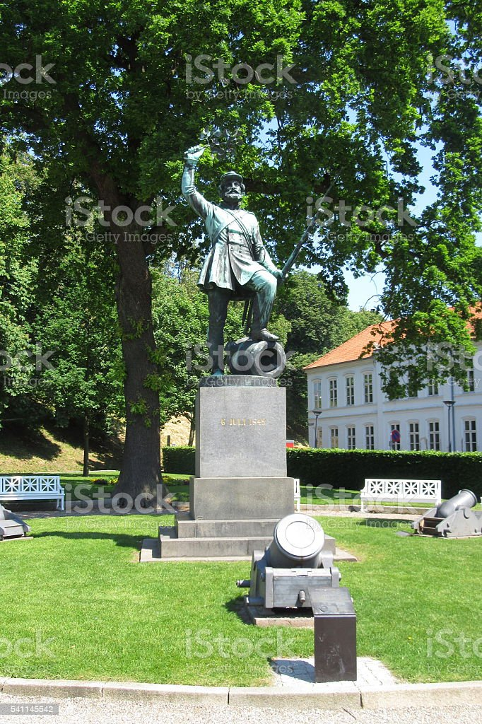 Fredericia Vold citadel - the 1849 war monument stock photo