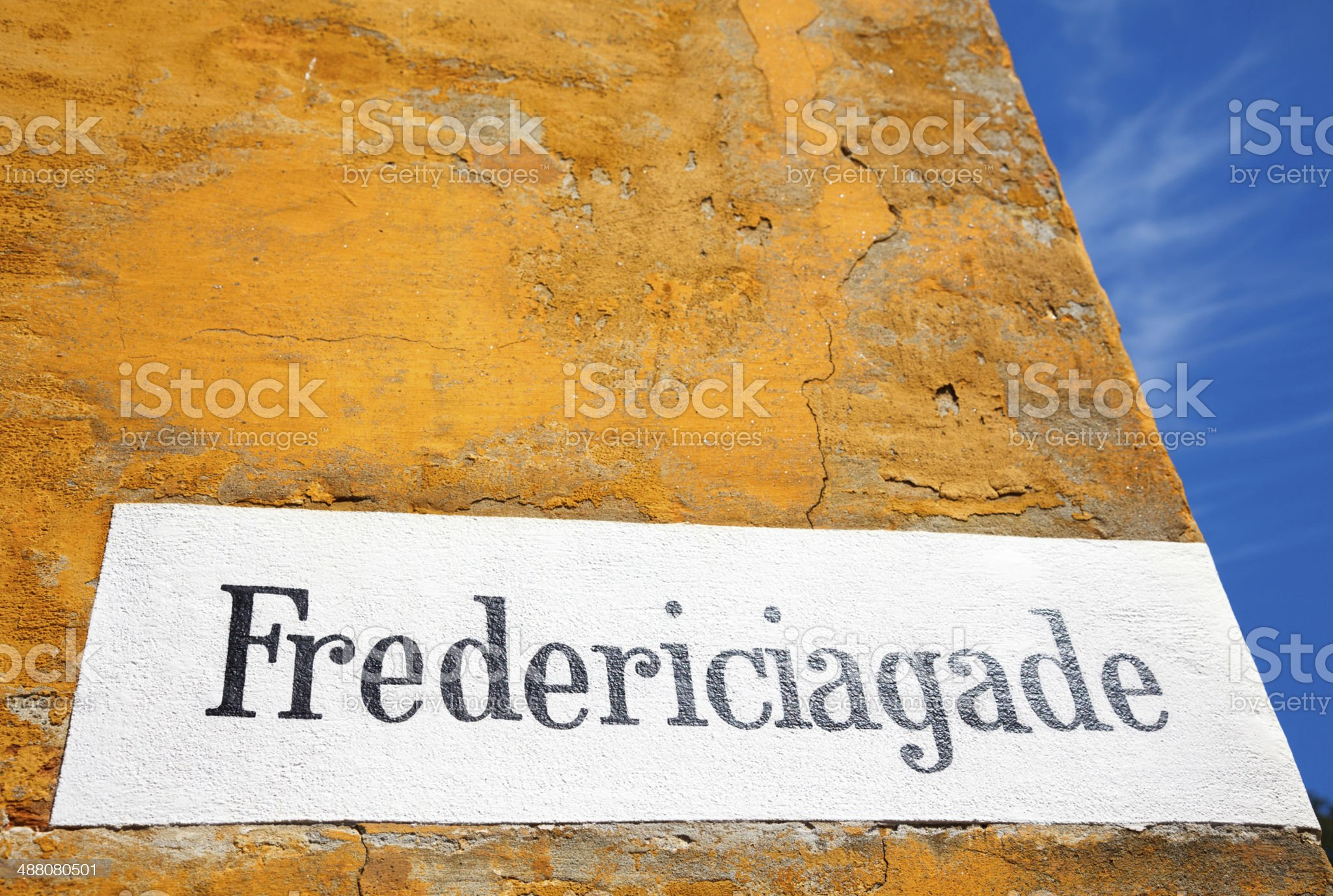 Fredericiagade, Nyboder royalty-free stock photo