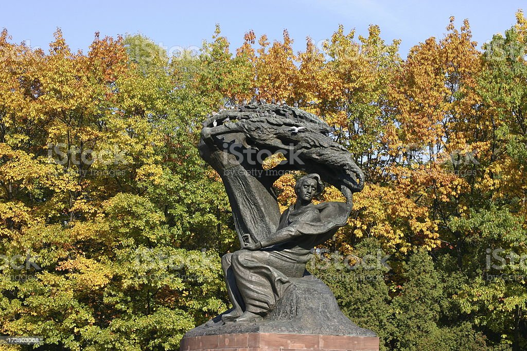 Frederick Chopin Monument royalty-free stock photo