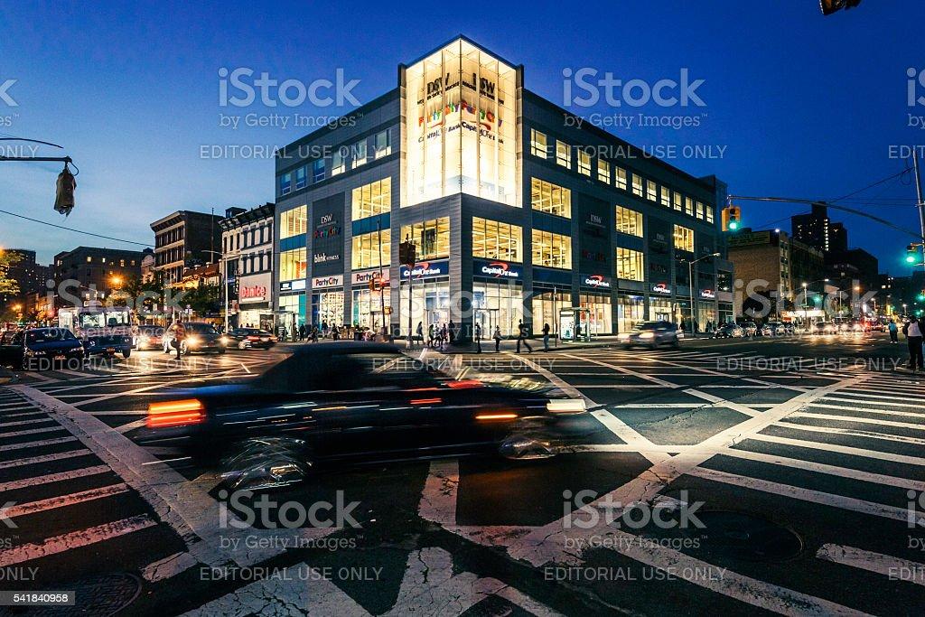 Frederick Douglass Boulevard in Harlem, at Sunset stock photo