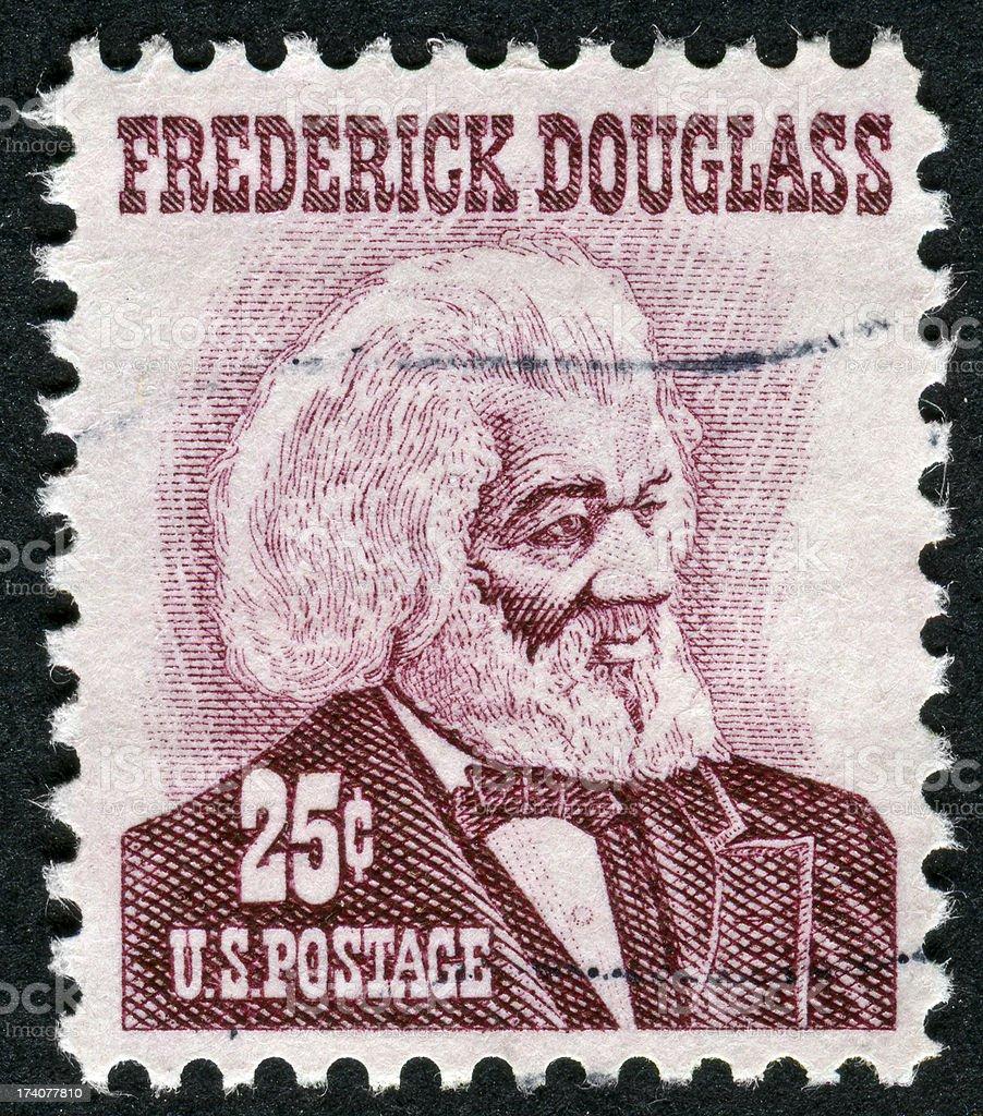 Frederick Douglass Stamp stock photo