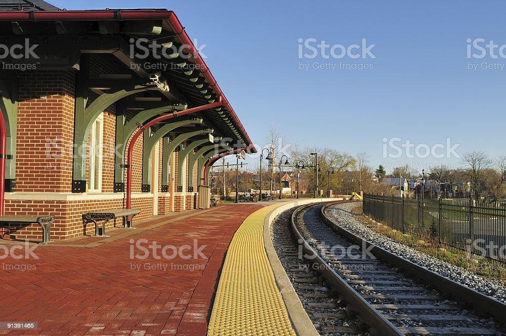 Frederick MARC Station Horizontal stock photo
