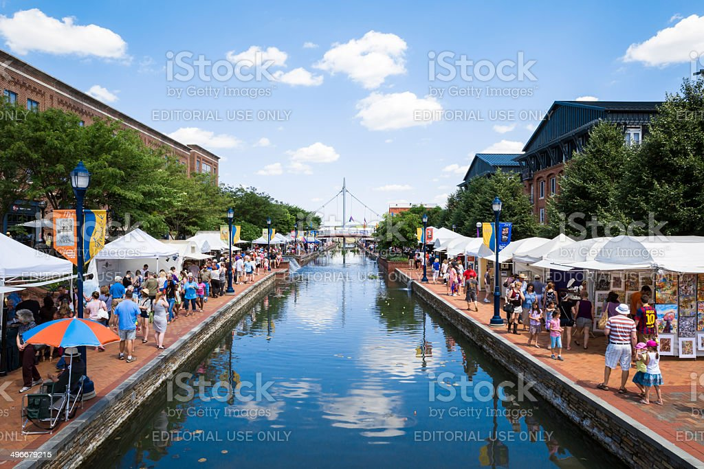 Frederick Maryland -- Festival of the Arts Celebration stock photo